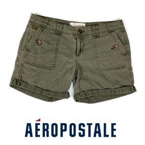 Aeropastale Olive Gree Casual Short Size 3/4